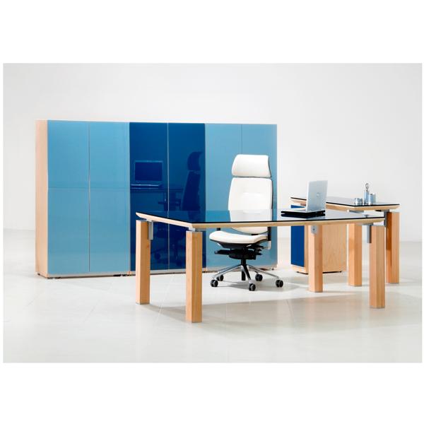 Conjunto directivo con libreros siena for Muebles de oficina haken