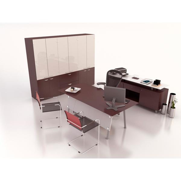 Conjunto directivo haken wengue for Muebles de oficina haken