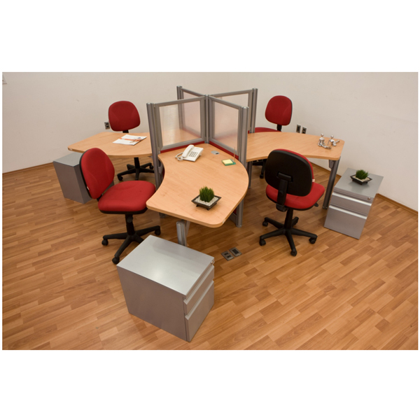 Conjunto operativo cruceta boomerang versa4 for Muebles de oficina haken